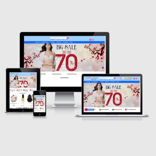 Mẫu Website Shop Thời Trang MA-115