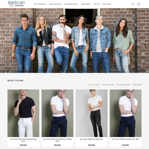 Mẫu Website Shop Thời Trang Nam MA-086