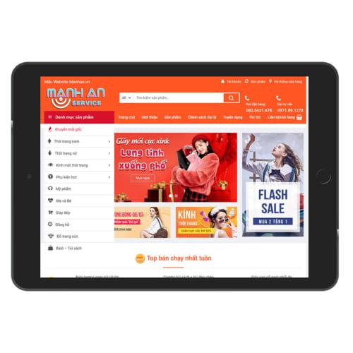Mẫu Website Shop Thời Trang - Phụ Kiện MA-075