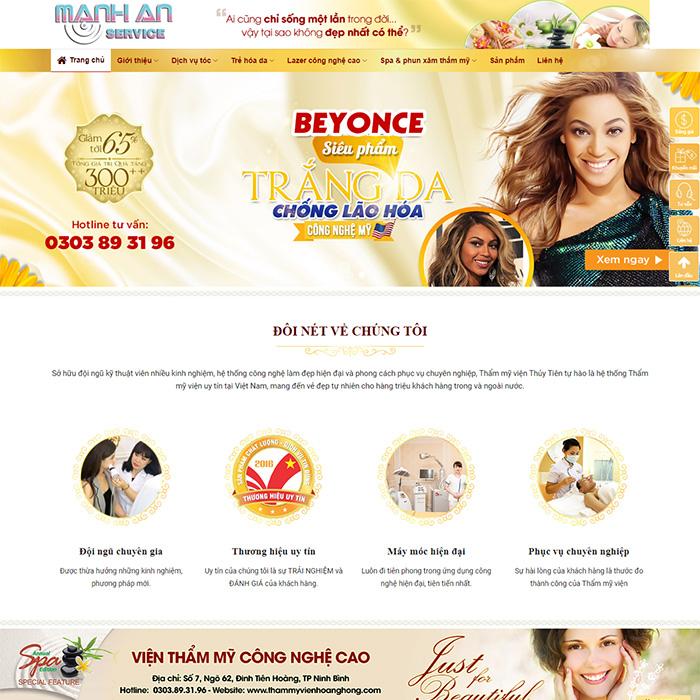 Mẫu Website Spa, Thẩm Mỹ Viện MA-077