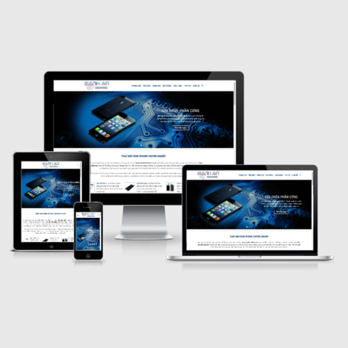Mẫu Website Sửa Chữa Điện Thoại MA-043