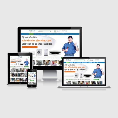 Mẫu Website Sửa Điện Lạnh MA-161
