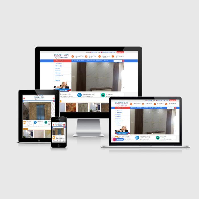 Mẫu Website Tấm Vân Đá MA-185