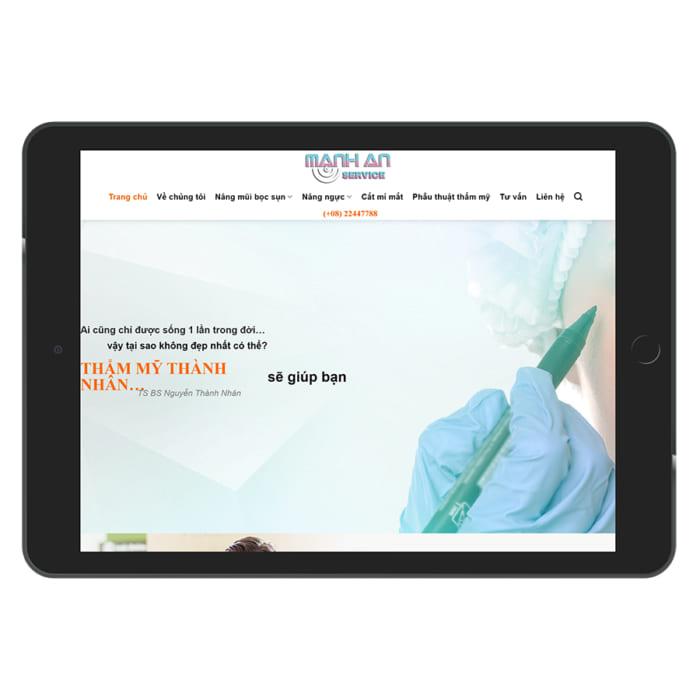 Mẫu Website Thẩm Mỹ Viện - Spa MA-036