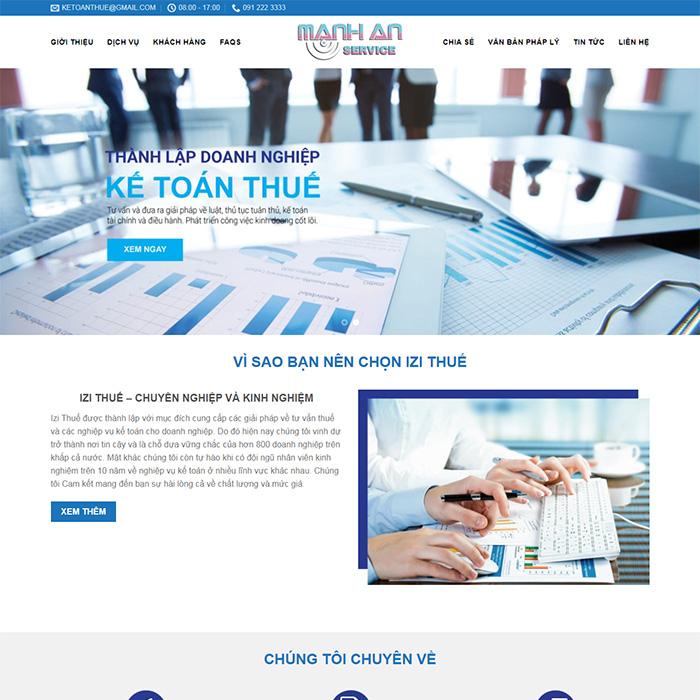 Mẫu Website Thành Lập Công Ty, Kế Toán MA-046