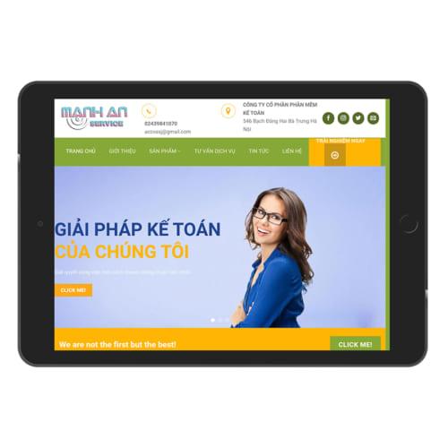 Mẫu Website Thành Lập Công Ty, Kế Toán MA-047