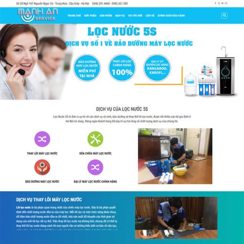 Mẫu Website Thiết Bị Lọc Nước MA-173