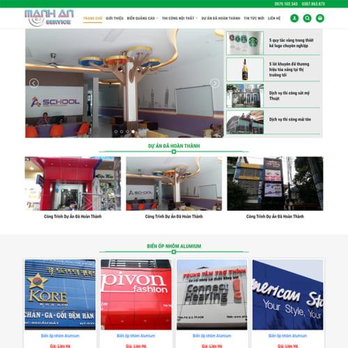 Mẫu Website Thiết Kế Biển Quảng Cáo MA-176