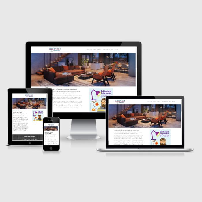 Mẫu Website Thiết Kế Kiến Trúc Và Nội Thất MA-054
