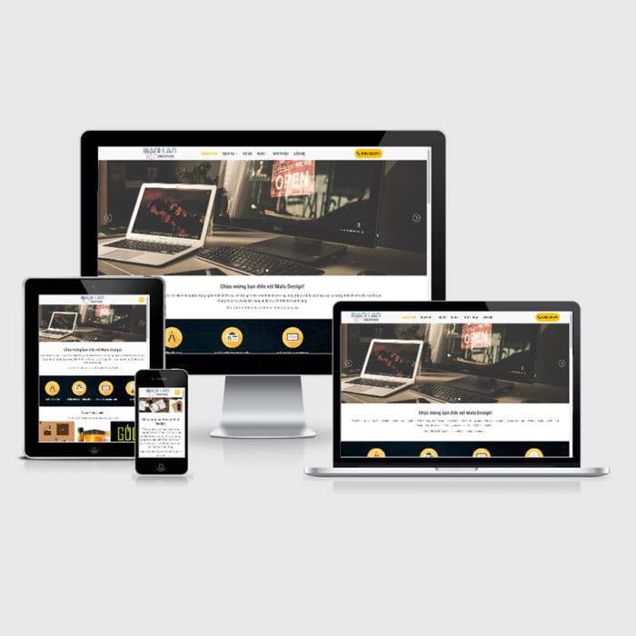 Mẫu Website Thiết Kế Logo MA-154