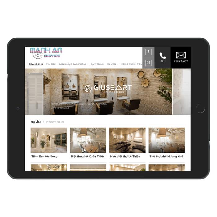 Mẫu Website Thiết kế nội thất, bán nội thất MA-033