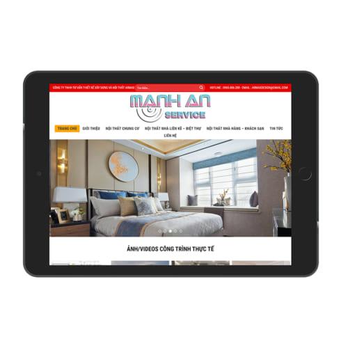 Mẫu Website Thiết Kế Nội Thất MA-205