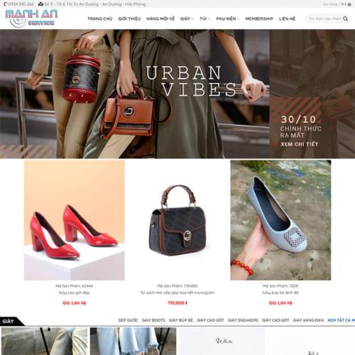 Mẫu Website Thời Trang MA-156