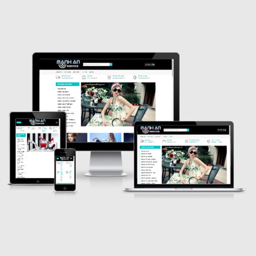 Mẫu Website Thời Trang Nữ, Phụ Kiện Nữ, Túi Sách MA-011