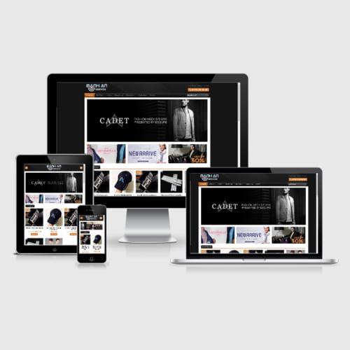 Mẫu Website Thời Trang - Phụ Kiện Nam MA-004