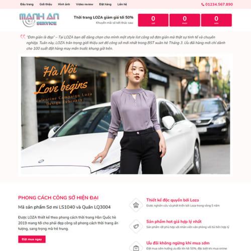Mẫu Website Thời Trang, Shop Quần Áo MA-032
