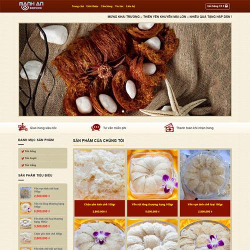 Mẫu Website Thực Phẩm Chức Năng, Bán Tổ Yến MA-104
