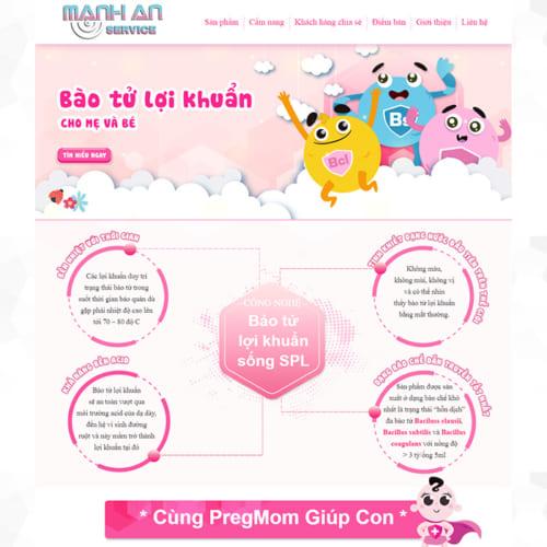 Mẫu Website Thực Phẩm Chức Năng MA-073