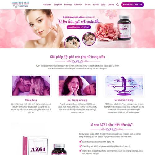 Mẫu Website Thực Phẩm Chức Năng MA-110
