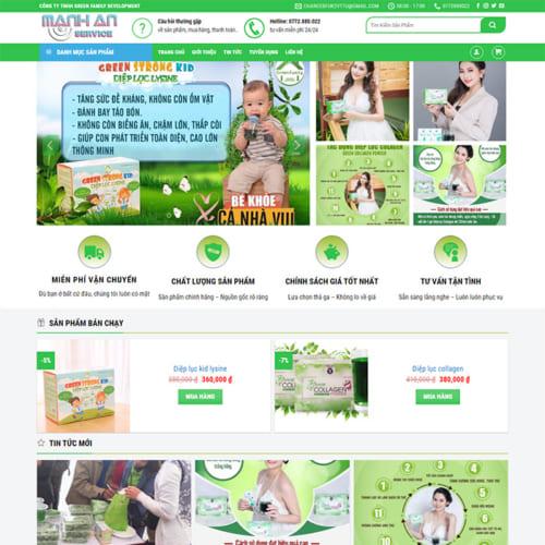 Mẫu Website Thực Phẩm Chức Năng MA-175