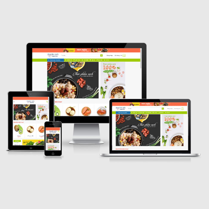 Mẫu Website Thực Phẩm Sạch MA-088