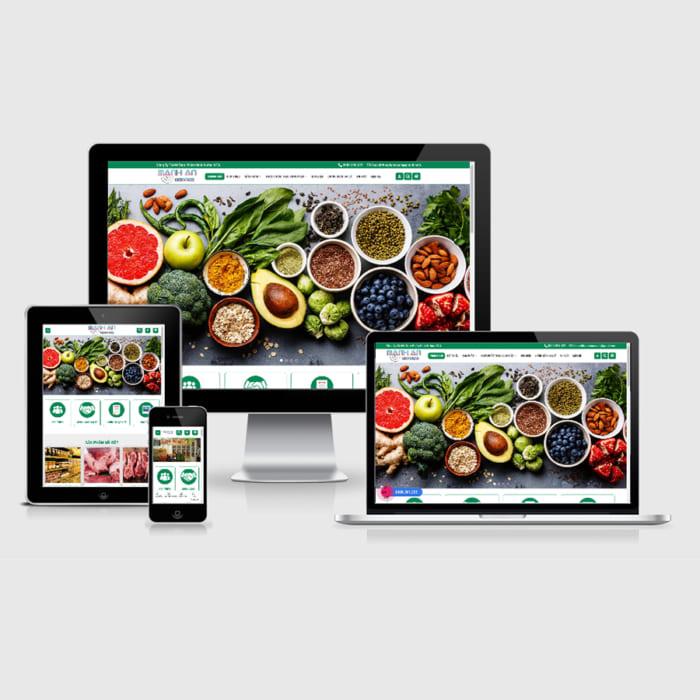 Mẫu Website Thực Phẩm Sạch MA-096