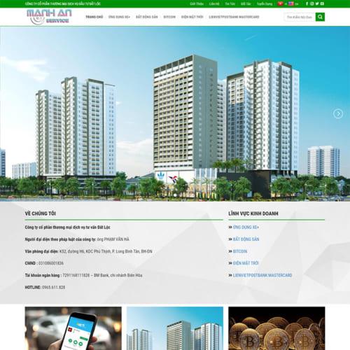 Mẫu Website Thương Mại Dịch Vụ MA-127