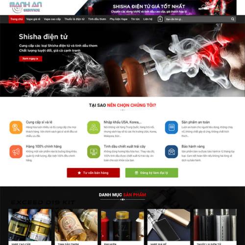 Mẫu Website Tinh Dầu - Vape Cao Cấp MA-084