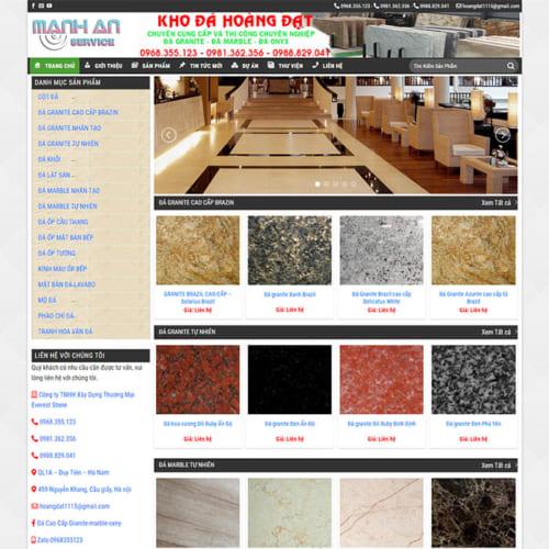 Mẫu Website Tổng Kho Đá Xây Dựng MA-142