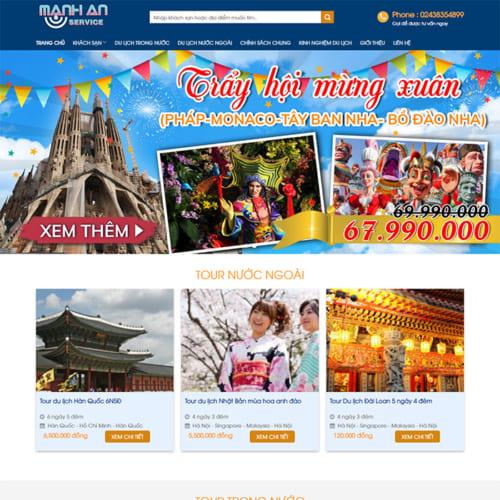 Mẫu Website Tour Du Lịch, Khách Sạn MA-027