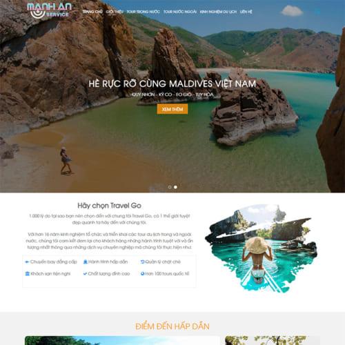 Mẫu Website Tour Du Lịch, Kiến Thức Du Lịch MA-028