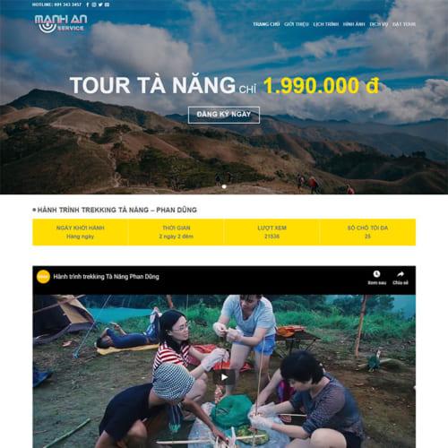 Mẫu Website Tour Du Lịch MA-080
