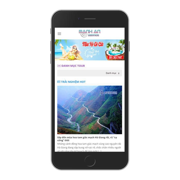Mẫu Website Tour Du Lịch, Tin Tức Du Lịch MA-025