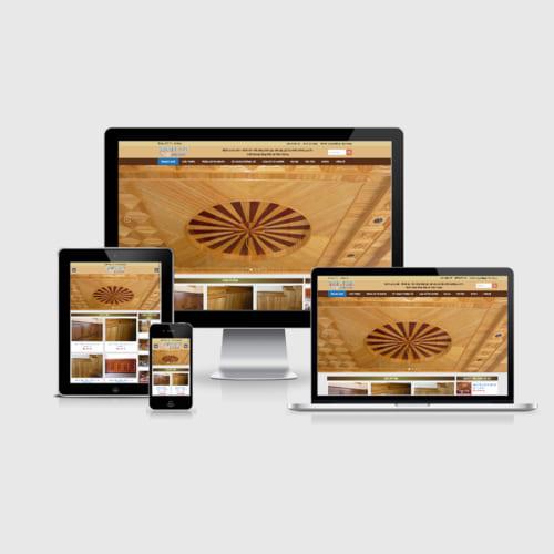 Mẫu Website Trần Gỗ Tự Nhiên MA-186