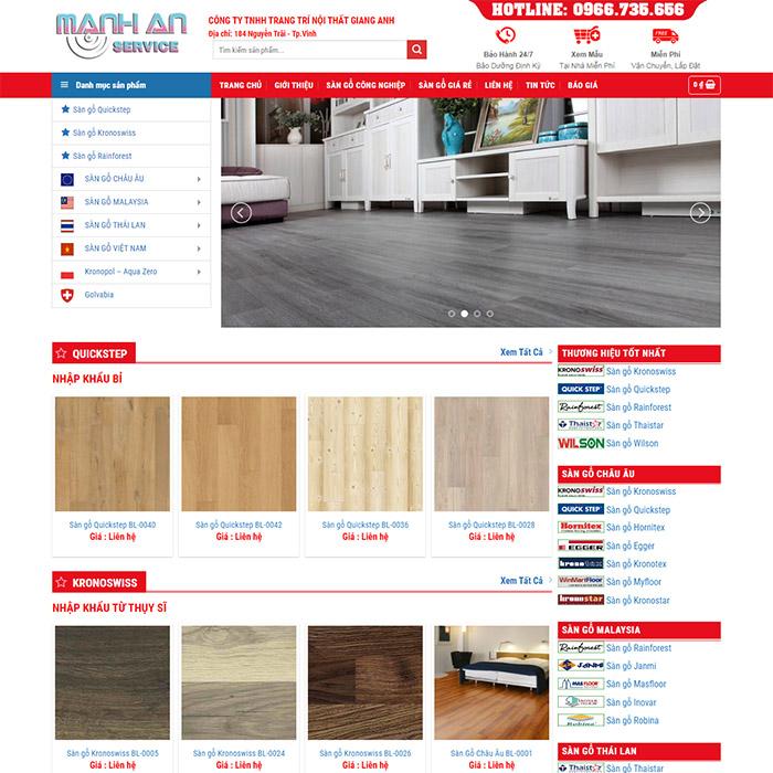 Mẫu Website Trang Trí Nội Thất MA-179