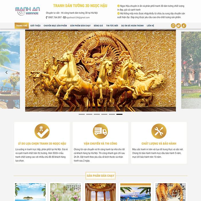 Mẫu Website Tranh Dán Tường 3D MA-200