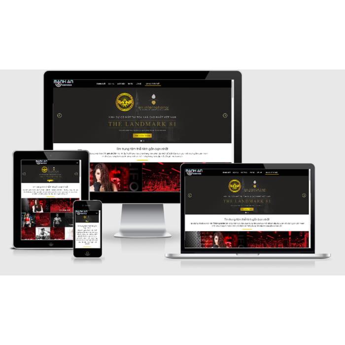 Mẫu Website Trung Tâm Tập Thể Hình MA-037