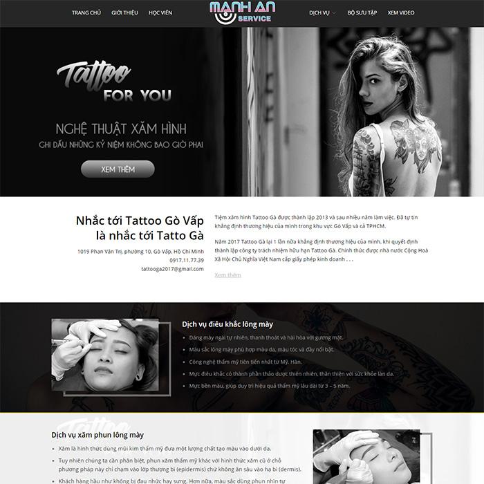Mẫu Website Xăm Hình, Tattoo MA-081