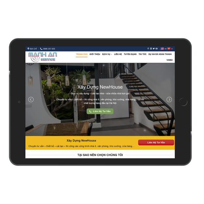 Mẫu Website Xây Dựng Cải Tạo Nhà MA-190
