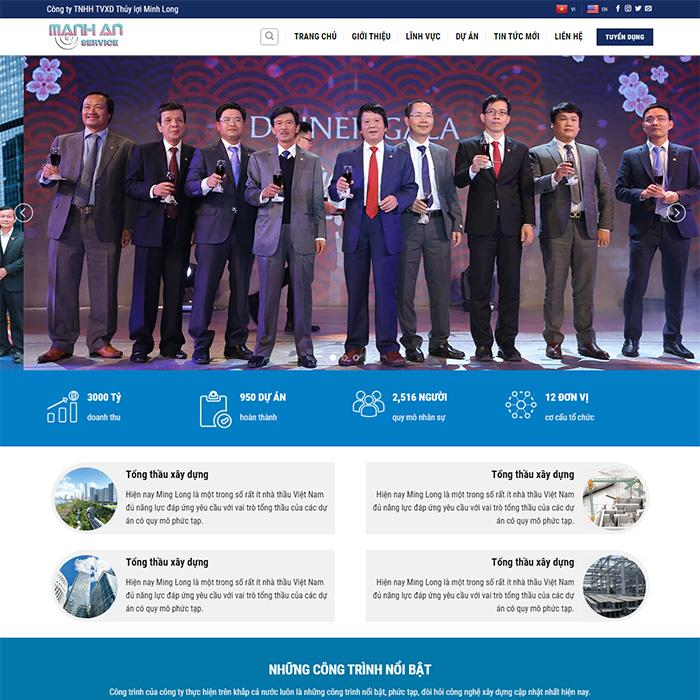 Mẫu Website Xây Dựng Công Trình Thủy Lợi MA-193