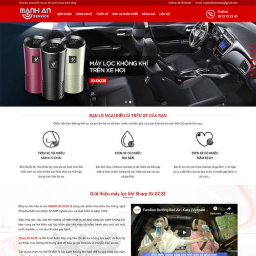 Mẫu WebsiteMáy Lọc Không Khí Oto MA-062