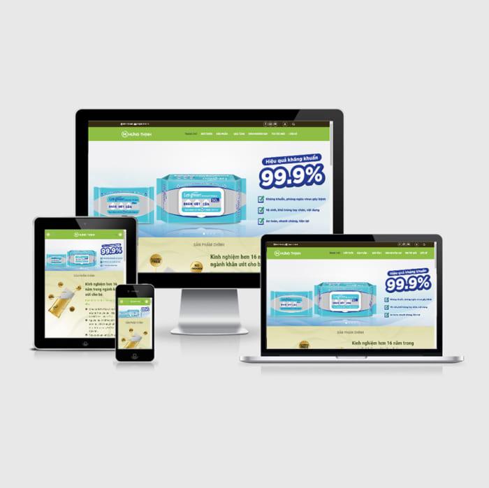 Mẫu Website Bán Khăn Giấy MA-213