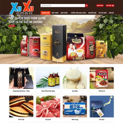 Mẫu Website Bán Thực Phẩm Sạch MA-220