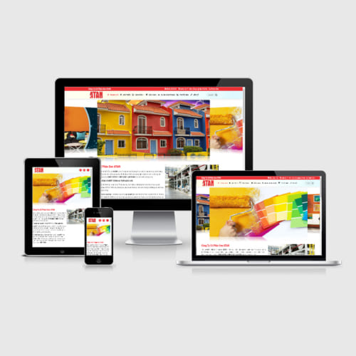 Mẫu Website Dịch Vụ Sơn Nhà, Bán Sơn MA-212