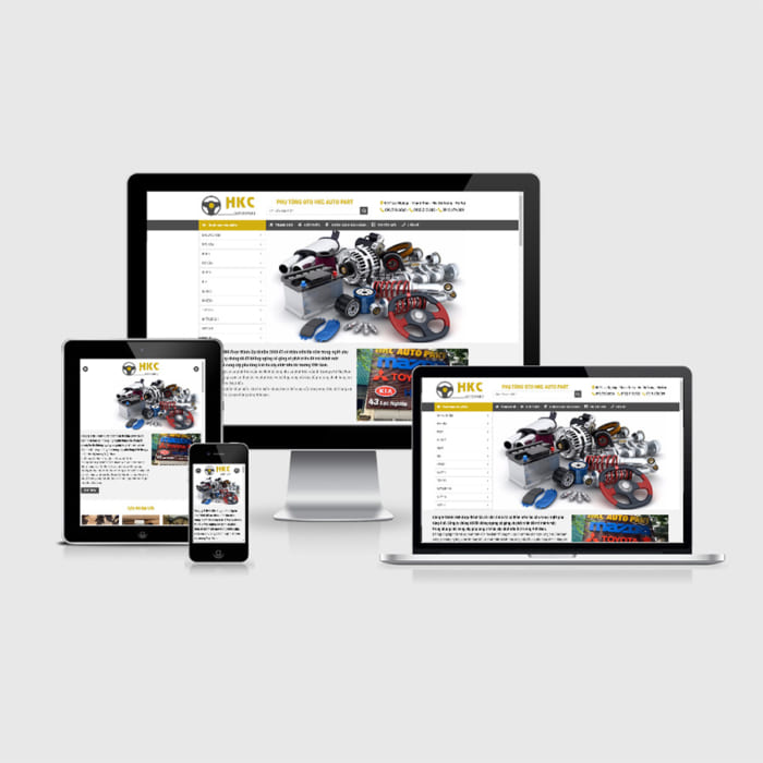 Mẫu Website Nội Thất Oto MA-214