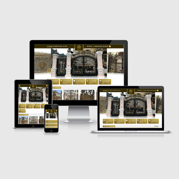 Mẫu Website Sắt Nghệ Thuật, Sắt Mỹ Nghệ MA-206