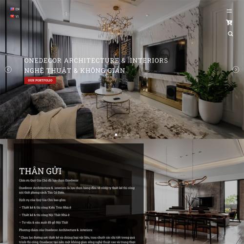 Mẫu Website Thiết Kế - Thi Công Nội Thất MA-219