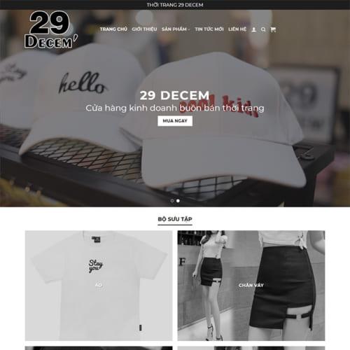 Mẫu Website Thời Trang MA-218
