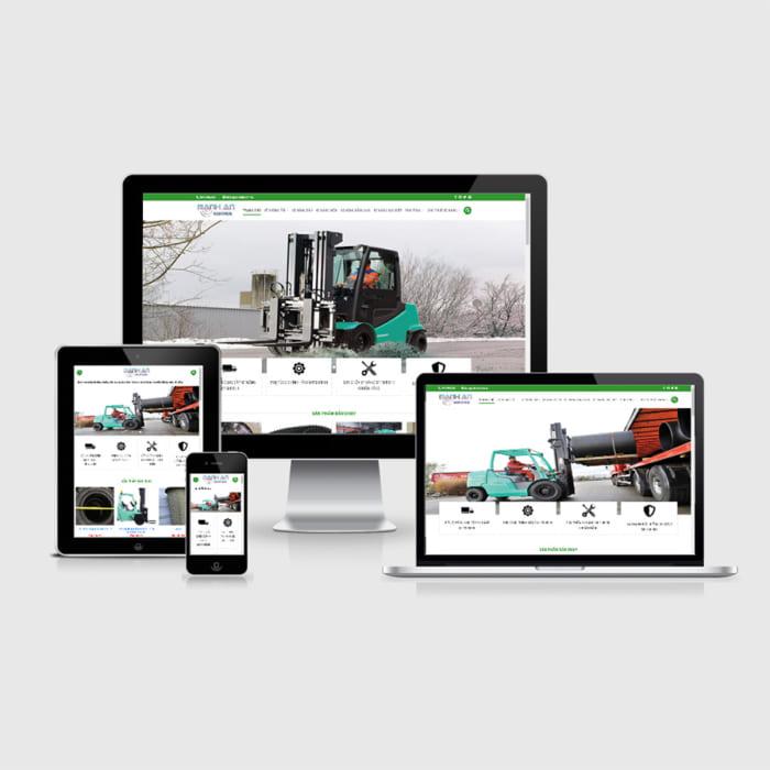 Mẫu Website Xe Bán Xe Nâng MA-207
