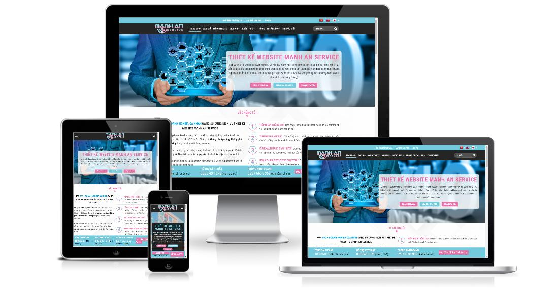 Dịch vụ thiết kế website Mạnh An Service